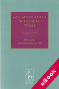 Cover of Case Management in Criminal Trials 2nd ed (eBook)