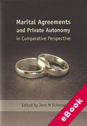 Cover of Marital Agreements and Private Autonomy in Comparative Perspective (eBook)