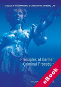 Cover of Principles of German Criminal Procedure (eBook)