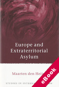 Cover of Europe and Extraterritorial Asylum (eBook)