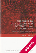 Cover of Right to Development and International Economic Law: Legal and Moral Dimensions (eBook)