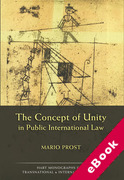Cover of The Concept of Unity in Public International Law (eBook)