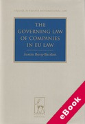 Cover of The Governing Law of Companies in EU Law (eBook)