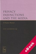 Cover of Privacy Injunctions and the Media: A Practice Manual (eBook)