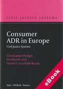 Cover of Consumer ADR in Europe (eBook)