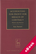 Cover of Accounting for Profit for Breach of Contract: Theory and Practice (eBook)