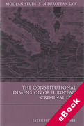 Cover of The Constitutional Dimension of European Criminal Law (eBook)