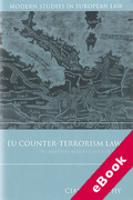 Cover of EU Counter-Terrorism: Pre-Emption and the Rule of Law (eBook)