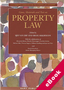 Cover of Cases, Materials and Text on Property Law (eBook)