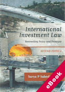 Cover of International Investment Law: Reconciling Policy and Principle (eBook)