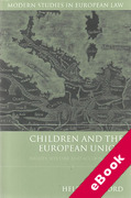 Cover of Children and the European Union: Rights, Welfare and Accountability (eBook)
