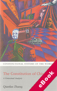 Cover of The Constitution China: A Contextual Analysis (eBook)