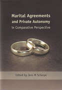 Cover of Marital Agreements and Private Autonomy in Comparative Perspective