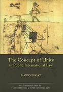 Cover of The Concept of Unity in Public International Law