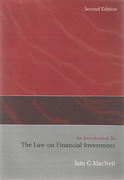 Cover of An Introduction to the Law on Financial Investment