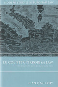 Cover of EU Counter-Terrorism: Pre-Emption and the Rule of Law