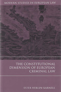 Cover of The Constitutional Dimension of European Criminal Law