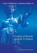Cover of Principles of German Criminal Procedure