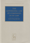 Cover of The Governing Law of Companies in EU Law