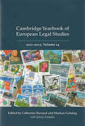 Cover of Cambridge Yearbook of European Legal Studies Volume 14, 2011-2012