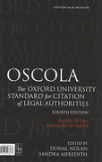 Cover of OSCOLA: The Oxford University Standard for Citation of Legal Authorities