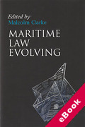 Cover of Maritime Law Evolving (eBook)