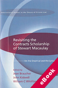Cover of Revisiting the Contracts Scholarship of Stewart Macaulay: On the Empirical and the Lyrical (eBook)