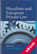 Cover of Pluralism and European Private Law (eBook)