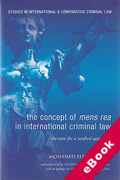 Cover of The Concept of Mens Rea in International Criminal Law: The Case for a Unified Approach (eBook)