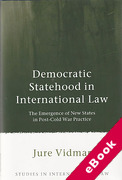 Cover of Democratic Statehood in International Law: The Emergence of New States in Post-Cold War Practice (eBook)