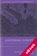 Cover of Lawyering Europe: European Law as a Social Field (eBook)