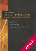 Cover of The Use of Foreign Precedents by Constitutional Judges (eBook)