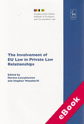 Cover of The Involvement of EU Law in Private Law Relationships (eBook)