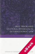 Cover of Free Trade and Cultural Diversity in International Law (eBook)