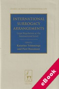 Cover of International Surrogacy Arrangements: Legal Regulation at the International Level (eBook)