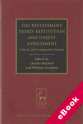 Cover of The Restatement Third: Restitution and Unjust Enrichment: Critical and Comparative Essays (eBook)