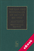 Cover of The Law and Economics of Article 102 TFEU (eBook)