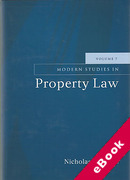Cover of Modern Studies in Property Law: Volume 7 (eBook)