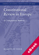 Cover of Constitutional Review in Europe: A Comparative Analysis (eBook)