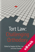 Cover of Tort Law: Challenging Orthodoxy (eBook)