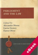 Cover of Parliament and the Law (eBook)