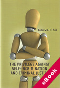 Cover of The Privilege Against Self-Incrimination and Criminal Justice (eBook)