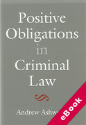 Cover of Positive Obligations in Criminal Law (eBook)