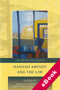 Cover of Hannah Arendt and the Law (eBook)