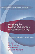 Cover of Revisiting the Contracts Scholarship of Stewart Macaulay: On the Empirical and the Lyrical