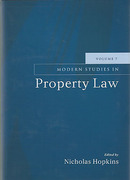 Cover of Modern Studies in Property Law: Volume 7