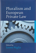 Cover of Pluralism and European Private Law