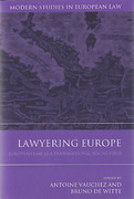 Cover of Lawyering Europe: European Law as a Social Field