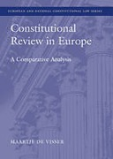 Cover of Constitutional Review in Europe: A Comparative Analysis