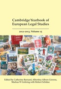 Cover of Cambridge Yearbook of European Legal Studies Volume 15, 2012-2013